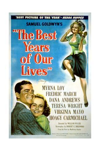 The Best Years of Our Lives, Dana Andrews, Teresa Wright, Virginia Mayo, 1946 Giclée-Druck
