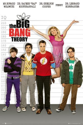 The Big Bang Theory Line Up Print Bij Allpostersnl