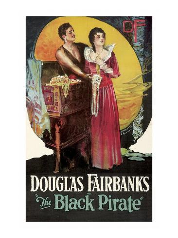 The Black Pirate Kunstdruk