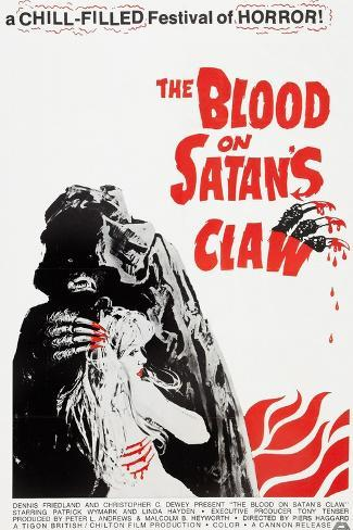 The Blood on Satan's Claw, poster art, 1971 Kunstdruck