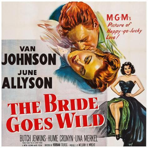 The Bride Goes Wild, from Top: Van Johnson, June Allyson, Arlene Dahl, 1948 Kunstdruck
