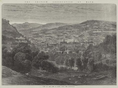 The British Association at Bath, View of the City of Bath, from the South-East Giclée-Druck