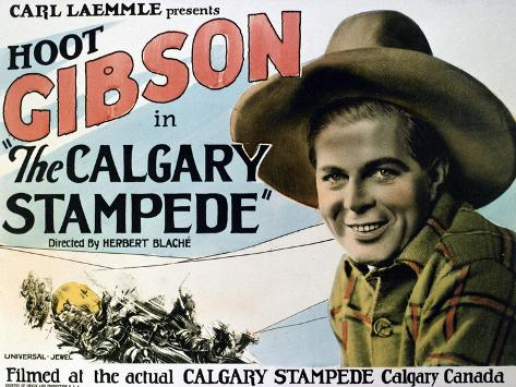 The Calgary Stampede, 1925, Directed by Herbert Blache Giclée-Druck