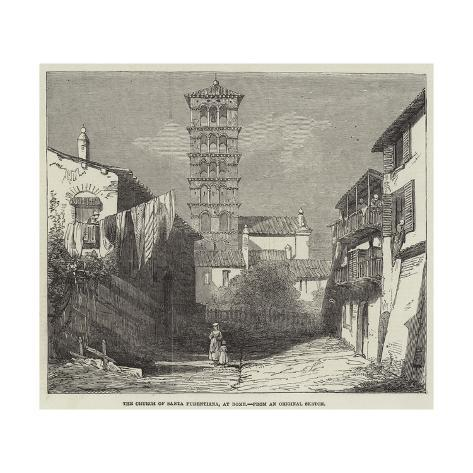 The Church of Santa Pudentiana, at Rome Giclée-Druck