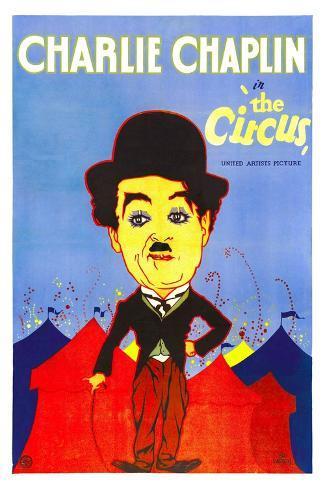 THE CIRCUS, Charlie Chaplin, 1928. Kunstdruck
