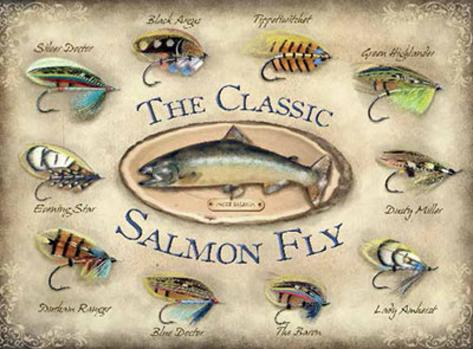 The Classic Salmon Fly Blechschild