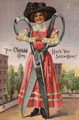 The Clauss Girl Postcard Giclée-Druck