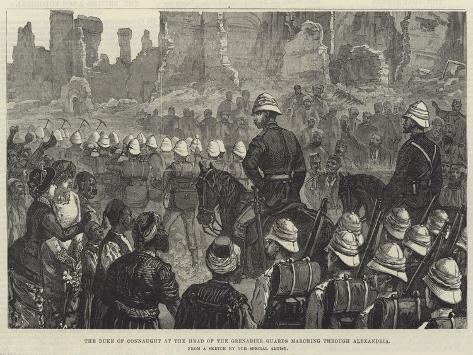 The Duke of Connaught at the Head of the Grenadier Guards Marching Through Alexandria Giclée-Druck