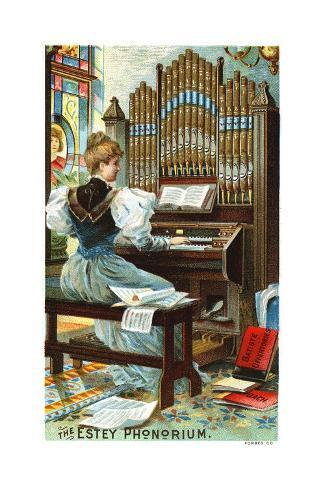 The Estey Phonorium Trade Card Giclée-Druck