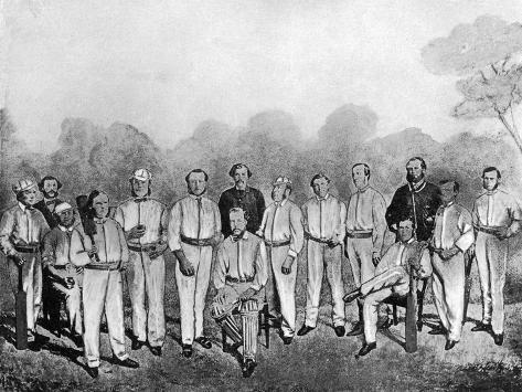 The First English Cricket Team to Visit Australia, 1861-1862 Giclée-Druck
