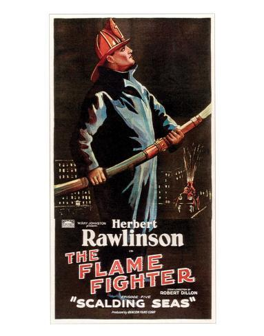 The Flame Fighter - 1925 I Giclée-Druck