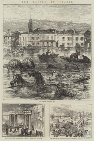 The Floods in France Giclée-Druck