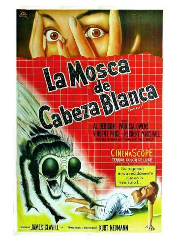 The Fly, Argentine Movie Poster, 1958 Kunstdruk