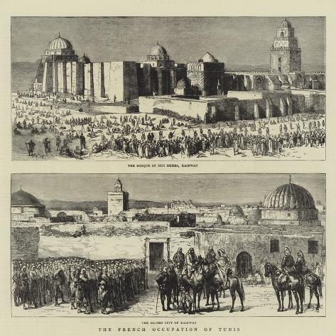 The French Occupation of Tunis Giclée-Druck