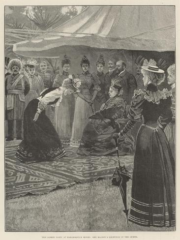 The Garden Party at Marlborough House, Her Majesty's Reception of the Guests Giclée-Druck