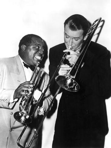 The Glenn Miller Story, Louis Armstrong, James Stewart, 1954 Foto