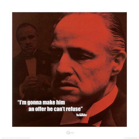 The Godfather: The Offer Kunstdruck