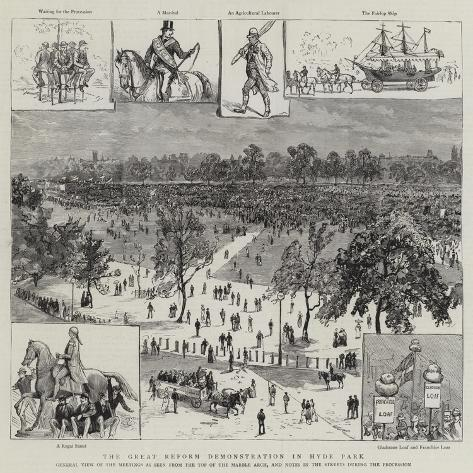 The Great Reform Demonstration in Hyde Park Giclée-Druck