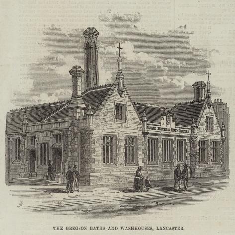 The Gregson Baths and Washhouses, Lancaster Giclée-Druck