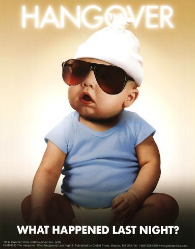 The Hangover Movie What Happened Last Night Baby Poster Print Neuheit