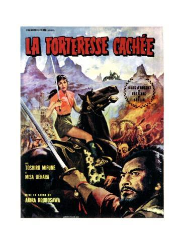 The Hidden Fortress, (AKA Kakushi0Toride No San-Akunin, La Fortaleza Escondida), 1958 Giclée-Druck