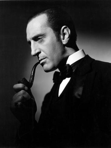 The Hound of the Baskervilles, Basil Rathbone, 1939 Foto
