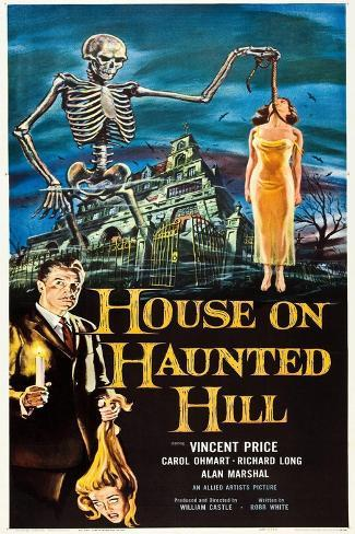 The House on Haunted Hill, Vincent Price, 1959 Kunstdruck