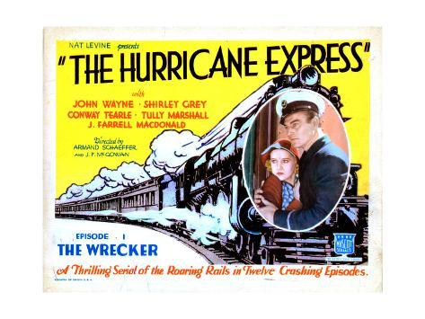 The Hurricane Express, Shirley Grey, John Wayne, 1932 Giclée-Druck