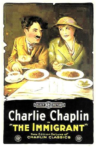 The Immigrant Movie Charlie Chaplin Plastic Sign Plastikschild
