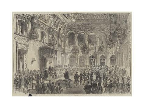 The Investiture of His Majesty King William of Prussia with the Insignia and Habit of the Most Nobl Giclée-Druck