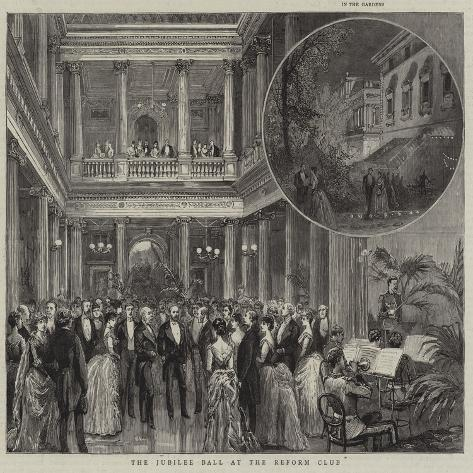 The Jubilee Ball at the Reform Club Giclée-Druck