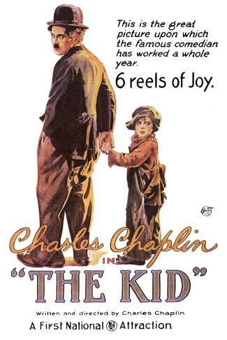 The Kid Movie Charlie Chaplin Plastic Sign Plastikschild
