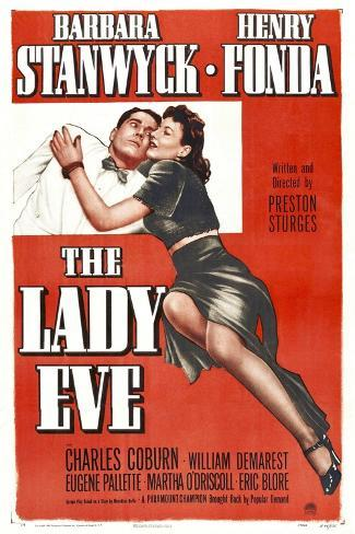 The Lady Eve, Henry Fonda, Barbara Stanwyck, 1941 Kunstdruck