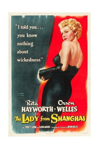 The Lady From Shanghai, Rita Hayworth, Directed by Orson Welles, 1947 Giclée-Premiumdruck