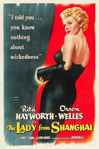 The Lady From Shanghai, Rita Hayworth, Directed by Orson Welles, 1947 Kunstdruck