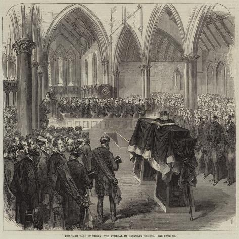 The Late Earl of Derby, the Funeral in Knowsley Church Giclée-Druck