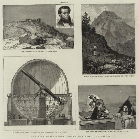 The Lick Observatory, Mount Hamilton, California Giclée-Druck