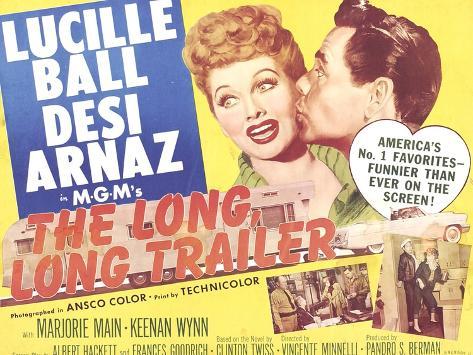 The Long, Long Trailer, Lucille Ball, Desi Arnaz on title lobbycard, 1954 Kunstdruck