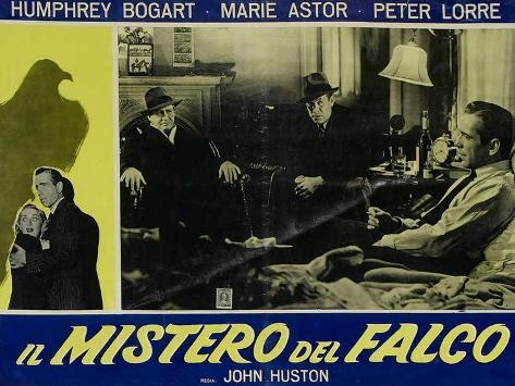 The Maltese Falcon, Italian Movie Poster, 1941 Kunstdruk