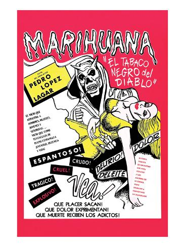 The Marihuana Story Kunstdruck