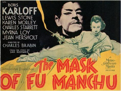 The Mask of Fu Manchu, 1932 Kunstdruck