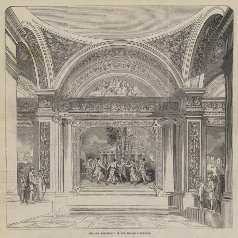 The New Proscenium of Her Majesty's Theatre Giclée-Druck