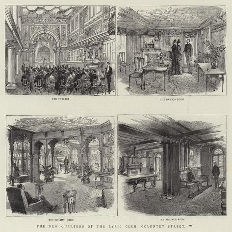 The New Quarters of the Lyric Club, Coventry Street, W Giclée-Druck
