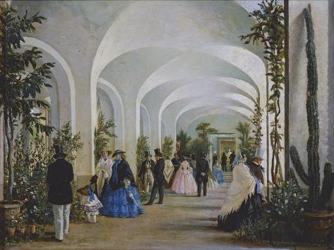 The Orangery in the Ducal Park by Guido Carmignani Giclée-Druck