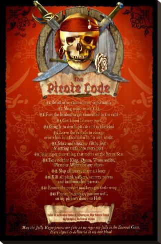 The Pirate Code Bedruckte aufgespannte Leinwand