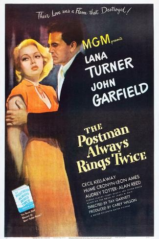 The Postman Always Rings Twice, Lana Turner, John Garfield, 1946 Kunstdruk