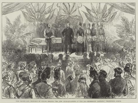 The Prince and Princess of Wales Opening the New Head-Quarters of the 20th Middlesex (Artists') Vol Giclée-Druck