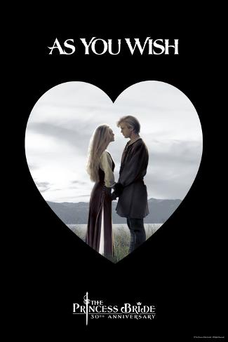 The Princess Bride - As You Wish Heart Kunstdruk