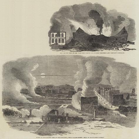 The Recent Fire at San Francisco Giclée-Druck