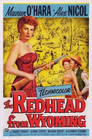 The Redhead from Wyoming, Maureen O'Hara, Alex Nichol, 1953 Kunstdruck